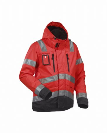 Blaklader 4837 High Vis, Water-Repellent Jacket (Red/Black)